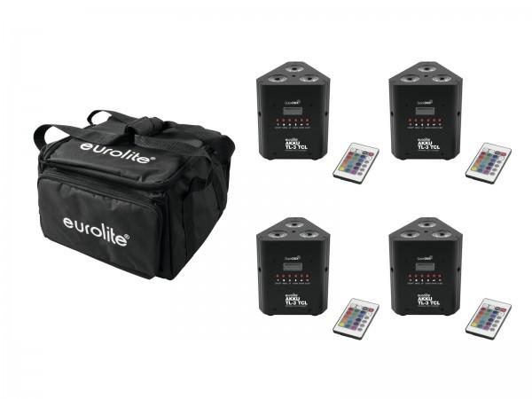 EUROLITE Set 4x AKKU TL-3 QuickDMX + Soft-Bag // EUROLITE Set 4x AKKU TL-3 QuickDMX + Soft-Bag1