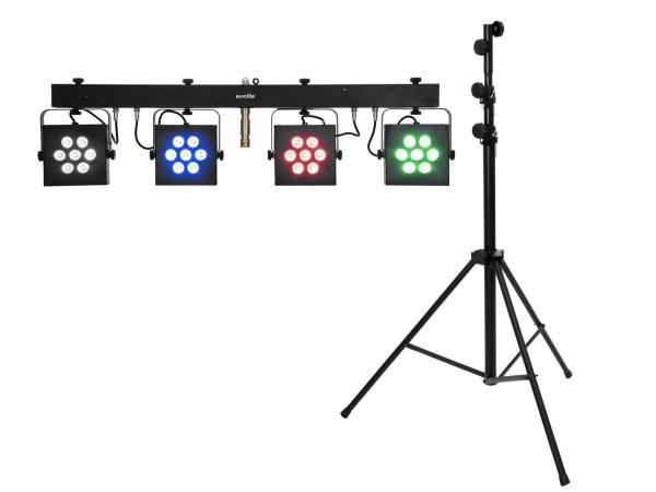 EUROLITE Set LED KLS-3002 + STV-60-WOT EU Stahlstativ schwarz // EUROLITE Set LED KLS-3002 + STV-60-WOT EU Steel stand black1