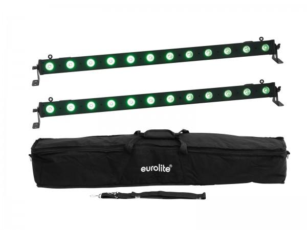 EUROLITE Set 2x LED BAR-12 QCL RGB+UV Leiste + Soft-Bag // EUROLITE Set 2x LED BAR-12 QCL RGB+UV Bar + Soft-Bag1