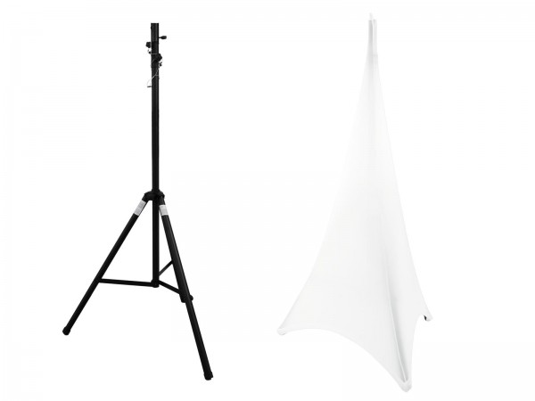 EUROLITE Set STV-40S-WOT Stahlstativ + Stativsegel weiß // EUROLITE Set STV-40S-WOT Steel Stand + Tripod Cover white1