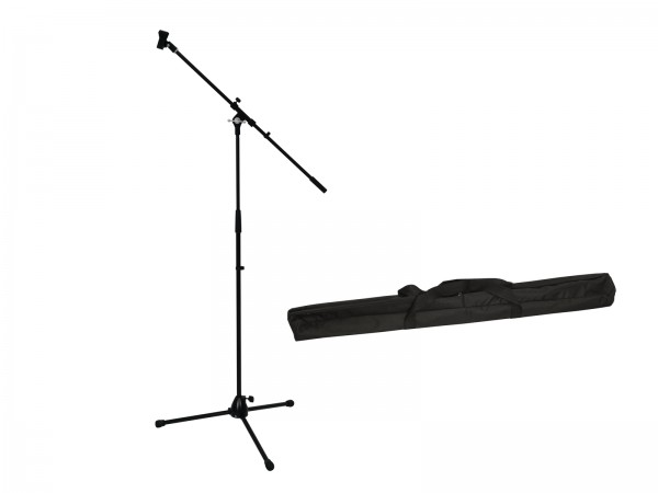OMNITRONIC Set Mikrofonstativ mit Galgen PRO schwarz + Tasche // OMNITRONIC Set Microphone Tripod with Boom, PRO bk + Bag1