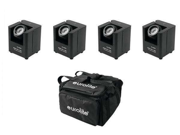 EUROLITE Set 4x AKKU UP-1 + SB-4 Soft-Bag // EUROLITE Set 4x AKKU UP-1 + SB-4 Soft Bag1