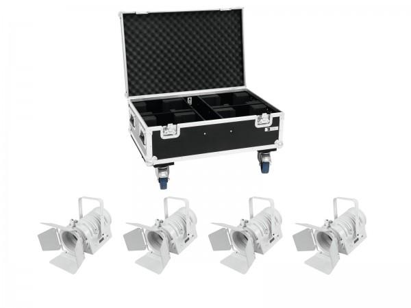 EUROLITE Set 4x LED THA-40PC ws + Case // EUROLITE Set 4x LED THA-40PC wh + Case1