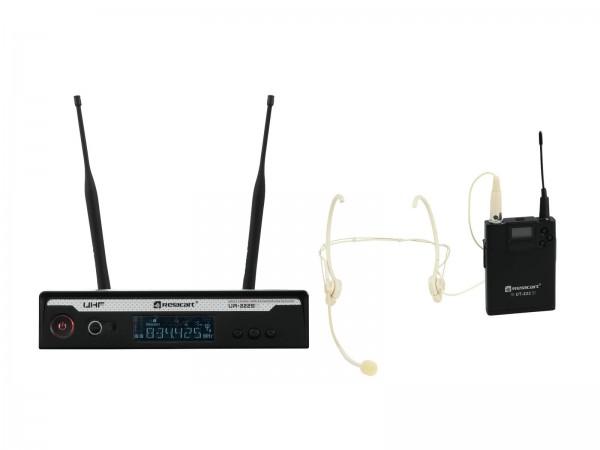 RELACART Set UR-222S Bodypack mit Headset // RELACART Set UR-222S Bodypack with Headset1