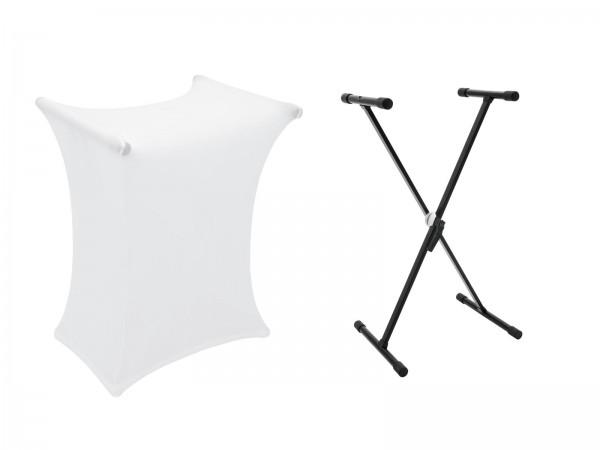 DIMAVERY Set SVT-1 Keyboard-Ständer + Cover weiß // DIMAVERY Set SVT-1 Keyboard Stand + Cover white1