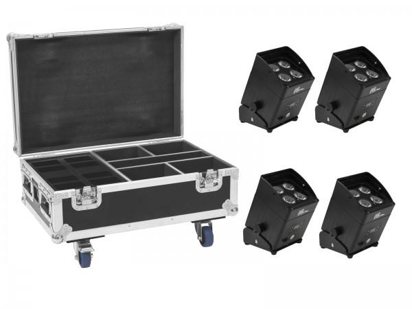 EUROLITE Set 4x AKKU IP UP-4 Plus HCL Spot WDMX + Case mit Ladefunktion // EUROLITE Set 4x AKKU IP UP-4 Plus HCL Spot WDMX + Case with charging funktion1