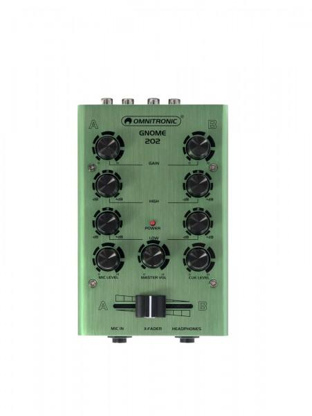OMNITRONIC GNOME-202 Mini-Mixer grün // OMNITRONIC GNOME-202 Mini Mixer green1