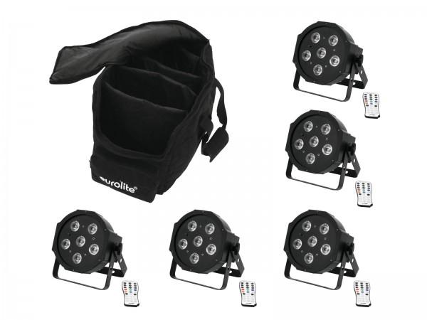 EUROLITE Set 5x LED SLS-6 UV Floor + Case // EUROLITE Set 5x LED SLS-6 UV Floor + Case1