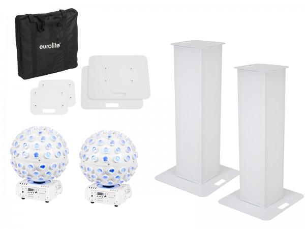 EUROLITE Set 2x Stage Stand 100cm + 2x LED B-40 HCL Strahleneffekt weiß // EUROLITE Set 2x Stage Stand 100cm + 2x LED B-40 HCL Beam Effect white1