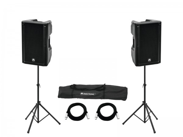 OMNITRONIC Set 2x XKB-215A + Boxenhochständer MOVE MK2 // OMNITRONIC Set 2x XKB-215A + Speaker Stand MOVE MK21