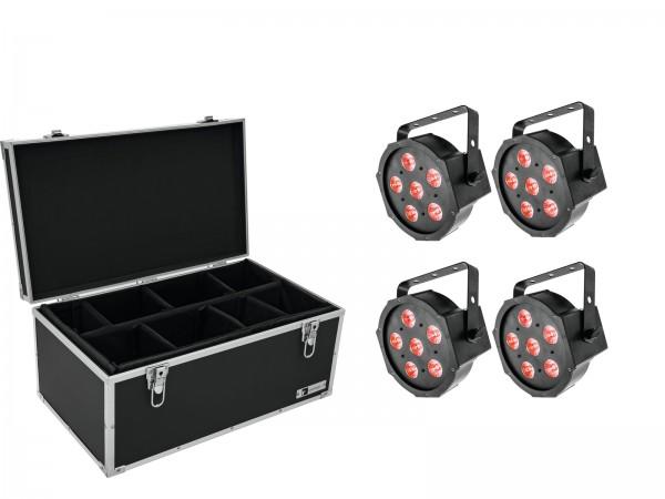 EUROLITE Set 4x LED SLS-6 TCL Spot + Case TDV-1 // EUROLITE Set 4x LED SLS-6 TCL Spot + Case TDV-11