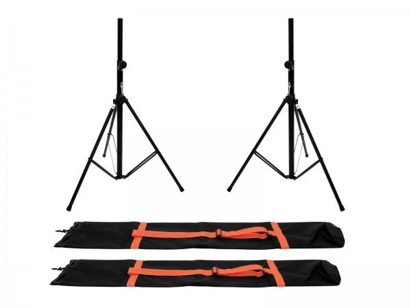 OMNITRONIC Set 2x BS-2 EU Boxenhochständer + 2x Tragetasche // OMNITRONIC Set 2x BS-2 EU Loudspeaker Stand + 2x Carrying bag1