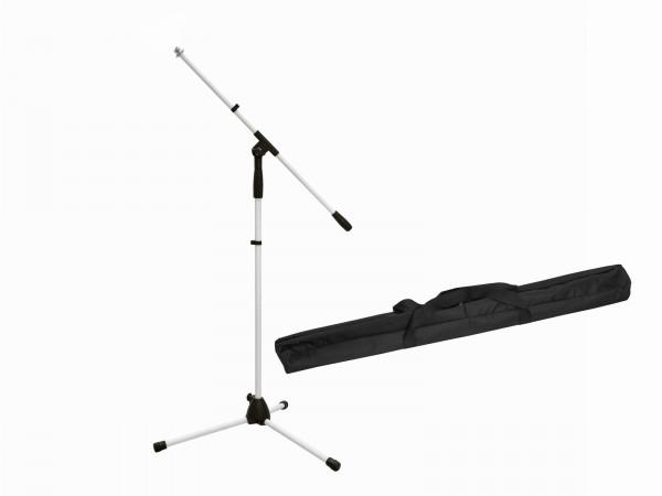 OMNITRONIC Set Mikrofonstativ MS-1W mit Galgen weiß + Tasche // OMNITRONIC Set Microphone Tripod MS-3 bk with Bag + Bag1
