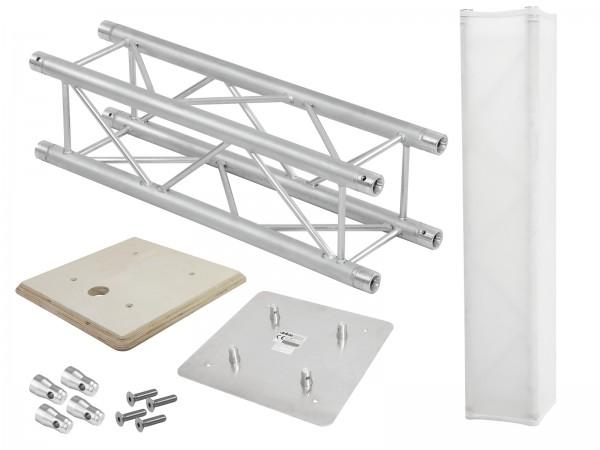 ALUTRUSS Set QUADLOCK Traversensteher 100cm + Holzplatte // ALUTRUSS Set QUADLOCK Truss stand 100cm + Wooden panel1