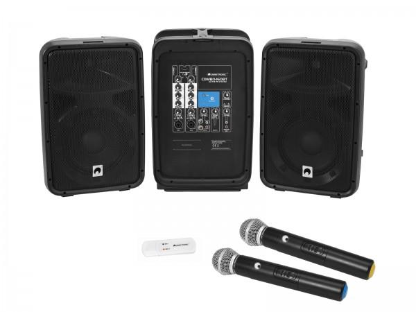 OMNITRONIC Set COMBO-160BT Aktiv-PA-System + UWM-2HH USB Funkmikrofon-Set // OMNITRONIC Set COMBO-160BT active PA system + UWM-2HH USB Wireless mic set1