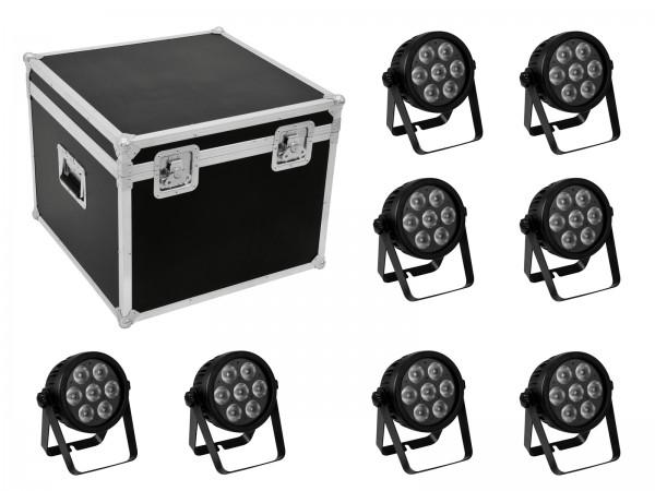 EUROLITE Set 8x LED 7C-7 Silent Slim Spot + Case // EUROLITE Set 8x LED 7C-7 Silent Slim Spot + Case1