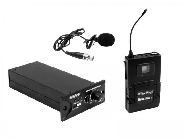 OMNITRONIC Set MOM-10BT4 Empfangsmodul + Taschensender + Lavalier-Mikrofon // OMNITRONIC Set MOM-10BT4 Receiver module + Bodypack transmitter + Lavalier microphone1