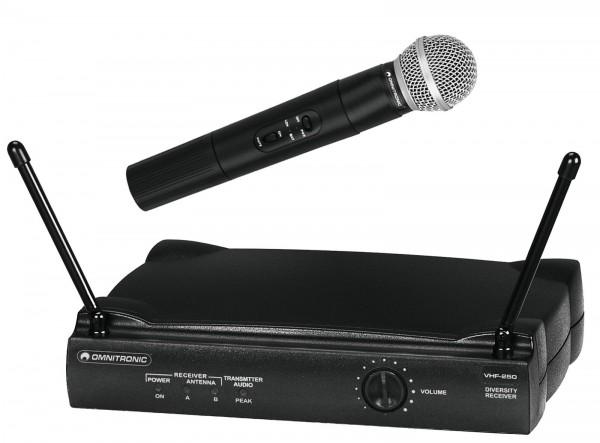 OMNITRONIC VHF-250 Funkmikrofonset 214MHz // OMNITRONIC VHF-250 Wireless Mic Set 2141