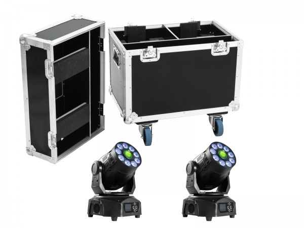 EUROLITE Set 2x LED TMH-75 Hybrid + Case // EUROLITE Set 2x LED TMH-75 Hybrid + Case1