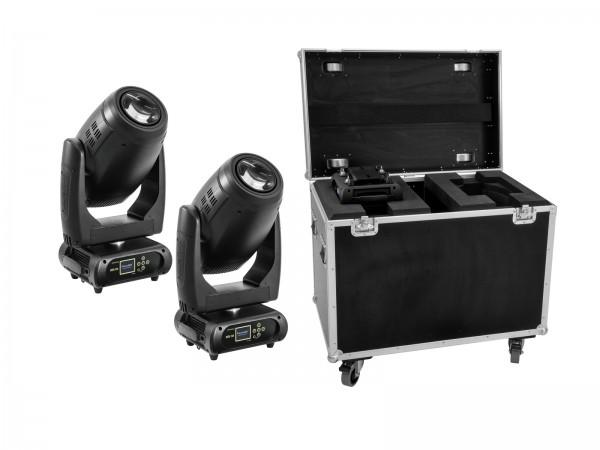 FUTURELIGHT Set 2x DMH-200 LED Moving-Head + Case // FUTURELIGHT Set 2x DMH-200 LED Moving-Head + Case1