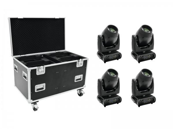 FUTURELIGHT Set 4x DMB-160 LED Moving-Head + Case // FUTURELIGHT Set 4x DMB-160 LED Moving-Head + Case1