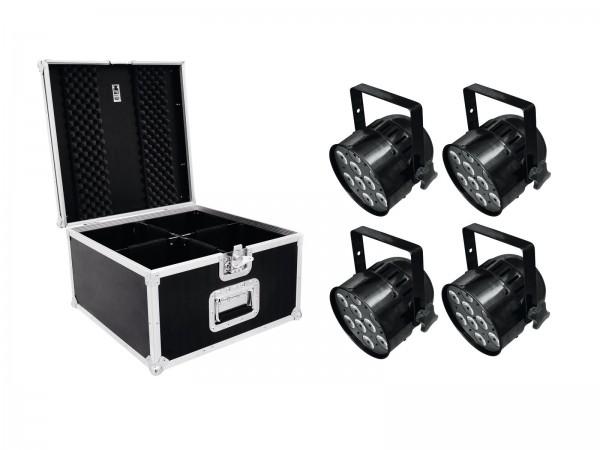 EUROLITE Set 4x LED PAR-56 QCL Short sw + PRO Case // EUROLITE Set 4x LED PAR-56 QCL Short sw + PRO Case1