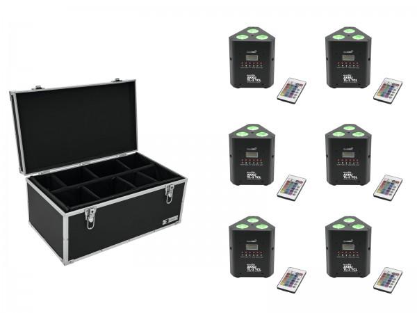 EUROLITE Set 6x AKKU TL-3 TCL Trusslight QuickDMX + Case TDV-1 // EUROLITE Set 6x AKKU TL-3 TCL Trusslight QuickDMX + Case TDV-11