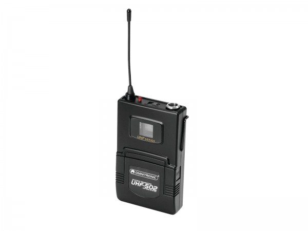 OMNITRONIC UHF-502 Taschensender 823-832MHz, inkl. Lavalier (CH B orange) // OMNITRONIC UHF-502 Bodypack incl. 823-832MHz Lavalier (CH B orange)1