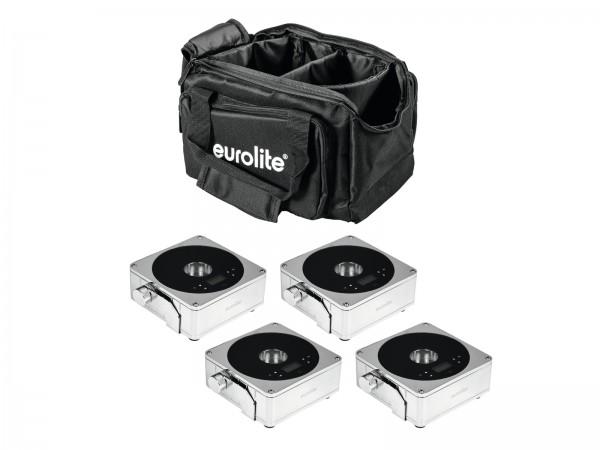 EUROLITE Set 4x AKKU IP Flat Light 1 chrom + Soft-Bag // EUROLITE Set 4x AKKU IP Flat Light 1 chrome + Soft-Bag1
