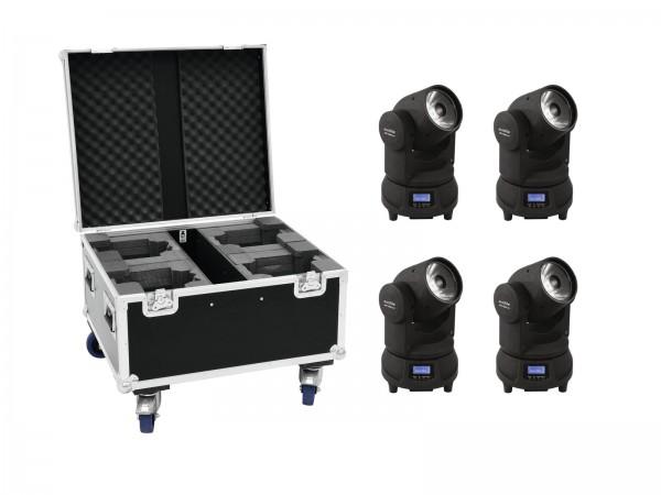 EUROLITE Set 4x LED TMH-X1 Moving-Head Beam + Case // EUROLITE Set 4x LED TMH-X1 Moving-Head Beam + Case1