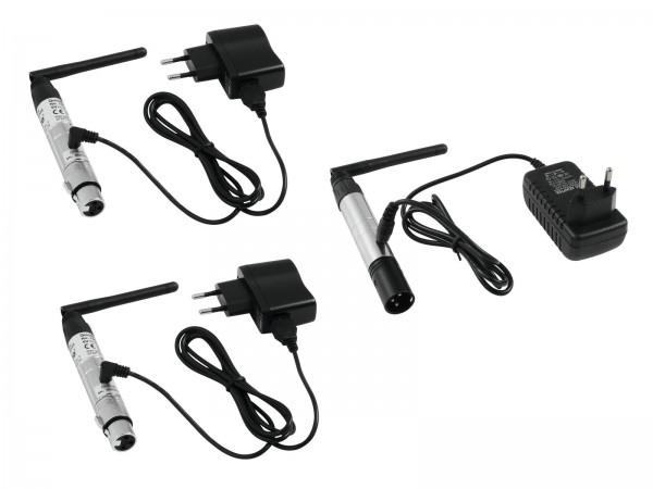EUROLITE Set QuickDMX 1x Sender + 2x Empfänger // EUROLITE Set QuickDMX 1x transmitter + 2x receiver1