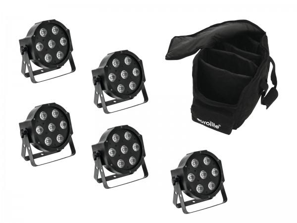EUROLITE Set 5x LED SLS-7 HCL Spot + Soft Bag // EUROLITE Set 5x LED SLS-7 HCL Spot + Soft Bag1