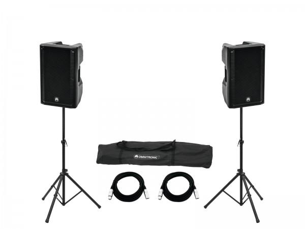 OMNITRONIC Set 2x XKB-212A + Boxenhochständer MOVE MK2 // OMNITRONIC Set 2x XKB-212A + Speaker Stand MOVE MK21