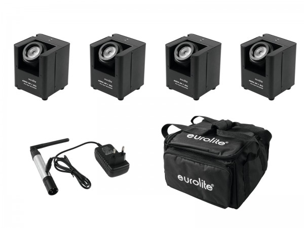 EUROLITE Set 4x AKKU UP-1 + SB-4 Soft-Bag + QuickDMX Funksender // EUROLITE Set 4x AKKU UP-1 + SB-4 Soft-Bag + QuickDMX Wireless transmitter1