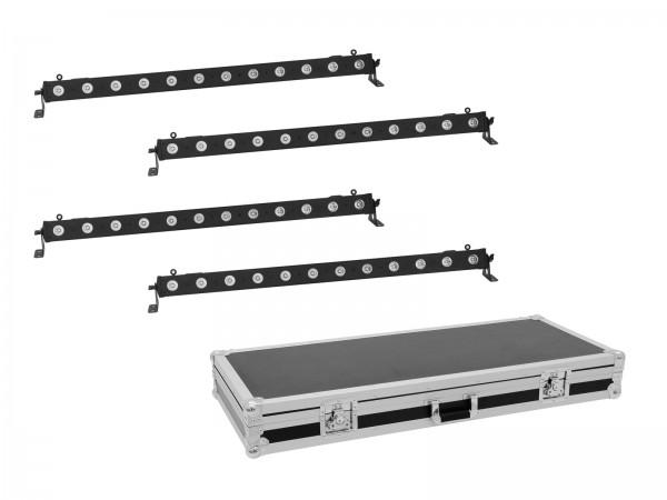 EUROLITE Set 4x LED BAR-12 QCL RGBA Leiste + Case // EUROLITE Set 4x LED BAR-12 QCL RGBA Bar + Case1