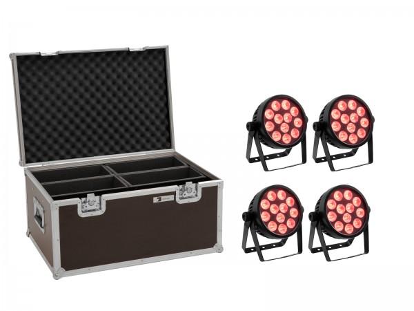 EUROLITE Set 4x LED 4C-12 Silent Slim Spot + Case // EUROLITE Set 4x LED 4C-12 Silent Slim Spot + Case1
