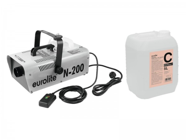 EUROLITE Set N-200 Nebelmaschine + C2D Standard Nebelfluid 5l // EUROLITE Set N-200 Smoke machine + C2D Smoke fluid 5l1