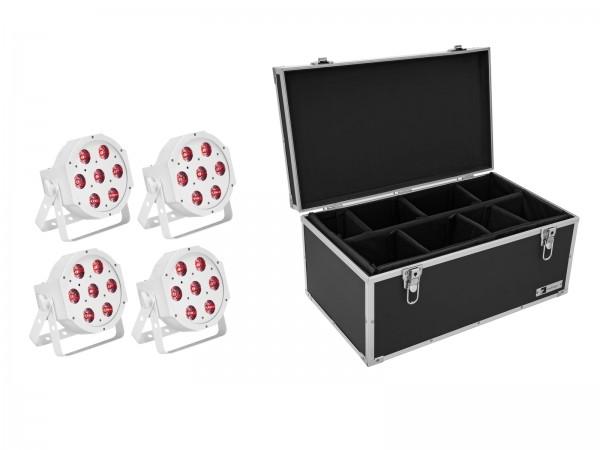 EUROLITE Set 4x LED SLS-7 HCL Floor weiß + Case // EUROLITE Set 4x LED SLS-7 HCL Floor white + Case1