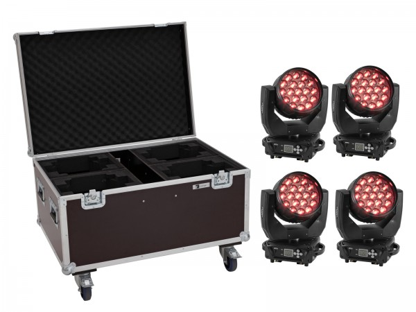 EUROLITE Set 4x LED TMH-X4 Moving-Head Wash Zoom + Case // EUROLITE Set 4x LED TMH-X4 Moving-Head Wash Zoom + Case1