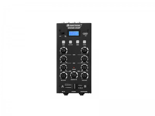 OMNITRONIC GNOME-202P Mini-Mixer schwarz // OMNITRONIC GNOME-202P Mini Mixer black1
