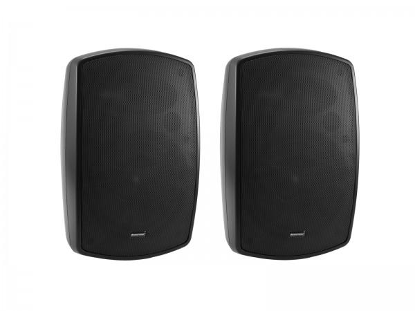 OMNITRONIC OD-8T Wandlautsprecher 100V schwarz 2x // OMNITRONIC OD-8T Wall Speaker 100V black 2x1