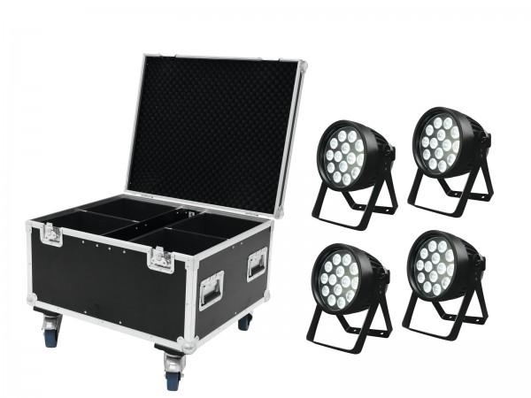 EUROLITE Set 4x LED IP PAR 14x8W QCL + Case // EUROLITE Set 4x LED IP PAR 14x8W QCL + Case1