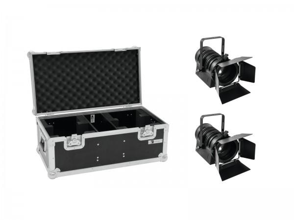 EUROLITE Set 2x LED THA-40PC sw + Case // EUROLITE Set 2x LED THA-40PC bk + Case1