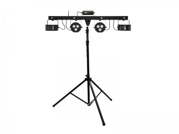 EUROLITE Set LED KLS Laser Bar FX-Lichtset + M-4 Boxenhochständer // EUROLITE Set LED KLS Laser Bar FX Light Set + M-4 Speaker-System Stand1