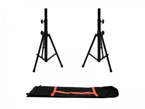 OMNITRONIC Set 2x BS-1 EU Boxenhochständer + Tragetasche // OMNITRONIC Set 2x BS-1 EU Loudspeaker Stand + Carrying bag1
