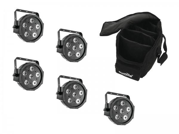 EUROLITE Set 5x LED SLS-6 TCL Spot + Soft Bag // EUROLITE Set 5x LED SLS-6 TCL Spot + Soft Bag1