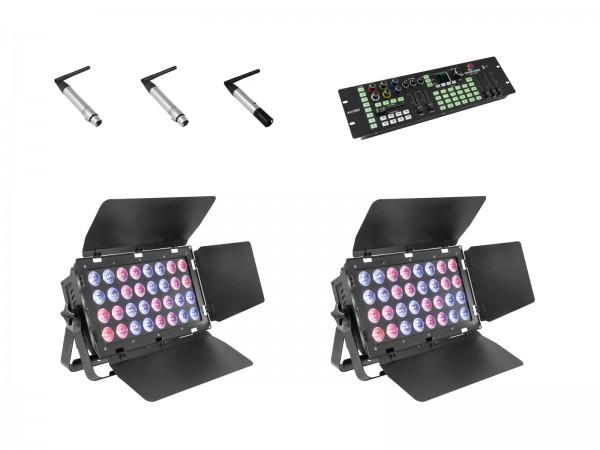 EUROLITE Set 2x Stage Panel 32 + Color Chief + QuickDMX Sender + 2x Empfänger // EUROLITE Set 2x Stage Panel 32 + Color Chief + QuickDMX transmitter + 2x receiver1
