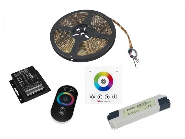 EUROLITE Set LED Strip RGB 5m + RF Controller + Wandpanel + Trafo 24V // EUROLITE Set LED Strip RGB 5m + RF Controller + Wandpanel + Trafo 24V1