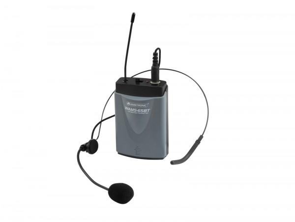 OMNITRONIC WAMS-65BT Taschensender inkl. Headset // OMNITRONIC WAMS-65BT Bodypack Transmitter incl. Headset1