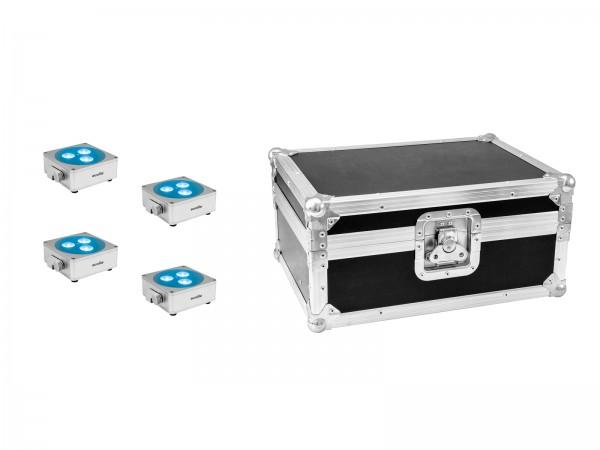 EUROLITE Set 4x AKKU Flat Light 3 sil + Case // EUROLITE Set 4x AKKU Flat Light 3 sil + Case1